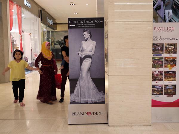 Designer Bridal Room Mobile Standee Brandavision