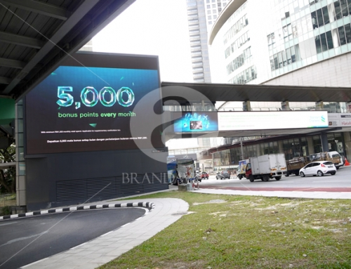 Standard Chartered (Outdoor Overhead Bridge Led Screen Display)