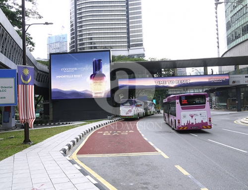 Loccitane (Outdoor Overhead Bridge Led Screen Display)